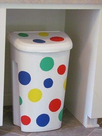 Polk-a-dot Trash Can