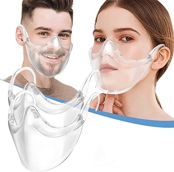 Anti-fog clear face mask