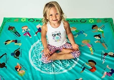 Yoga poses blanket