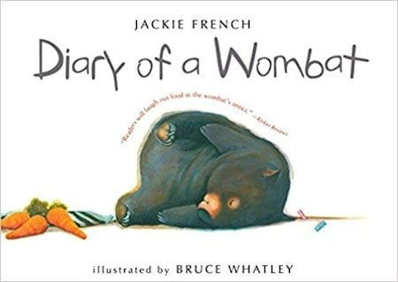 Diary of a Wombat written by Jackie French and illustrated by Bruce Whatley_50 Must-Read Books for Second Graders