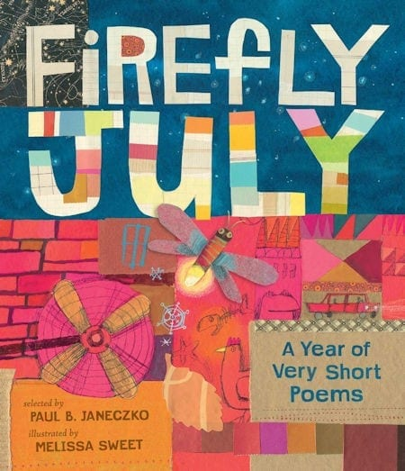 Firefly July by Paul B. Janeczko and illustrated by Melissa Sweet_50 Must-Read Books for Second Graders