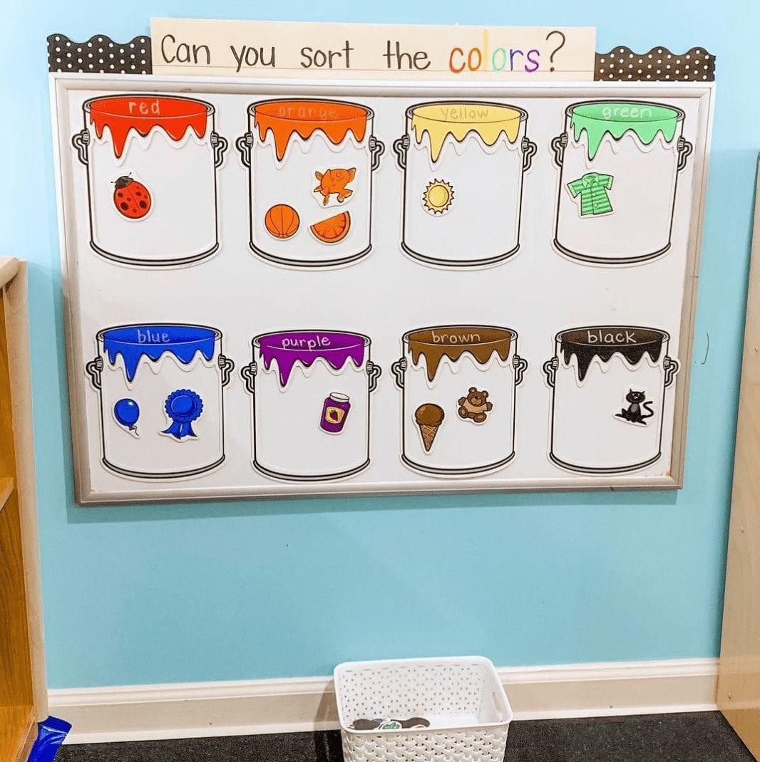 Color Sorting Buckets - Interactive Bulletin Boards