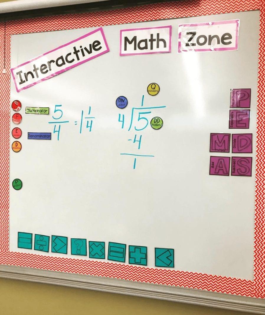 Math Interactive Whiteboard Wall