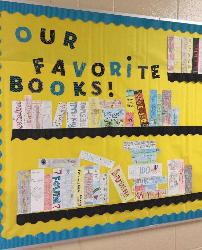 Bulletin Board Bookshelf