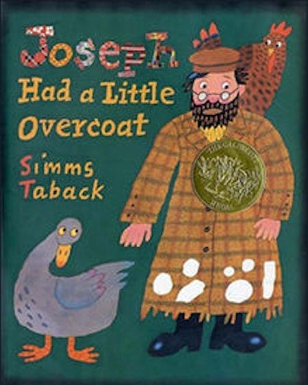 Joseph Had a Little Overcoat by Simms Taback_50 Must-Read Books for Second Graders