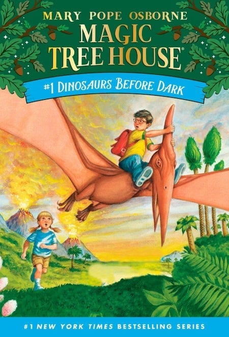 Magic Treehouse #1 Dinosaurs Before Dark by Mary Pope Osborne_50 Must-Read Books for Second Graders