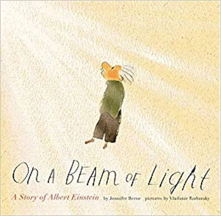 On a Beam of Light written by Jennifer Berne and illustrated by Vladimir Radunsky_50 Must-Read Books for Second Graders