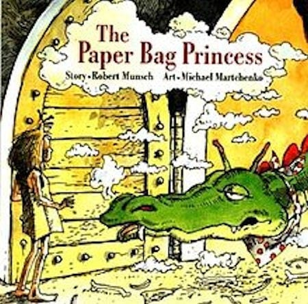 The Paper Bag Princess written by Robert Munsch and illustrated by Michael Martchenko_50 Must-Read Books for Second Graders