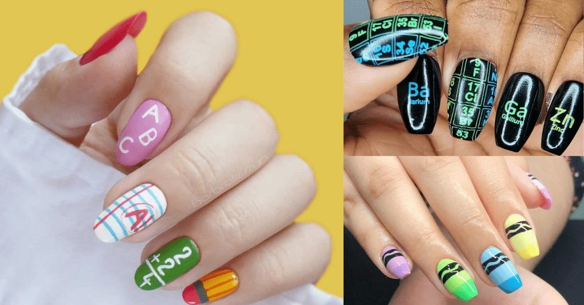33 Awesome Teacher Nail Art Ideas To Try ASAP!