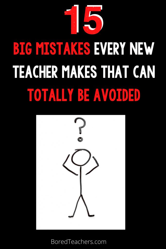 new teachers mistakes